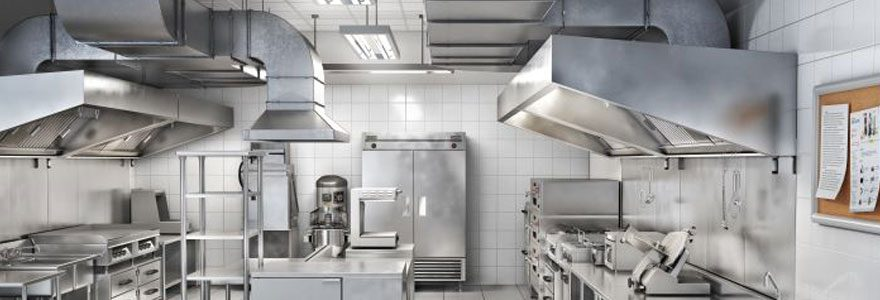 Hotte de cuisine professionnelle - France Hygiène ventilation