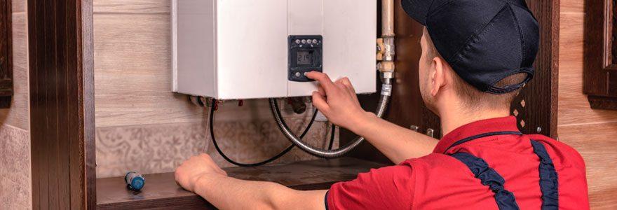 Installation d'une chaudière à gaz